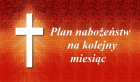 Plan nabożeństw Wrzesień 2018 r.