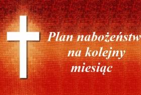 Plan nabożeństw Czerwiec 2018 r.