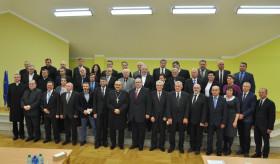 Uroczysta sesja rad Gmin Jaworza i Jasienicy z okazji 500 lat Reformacji.
